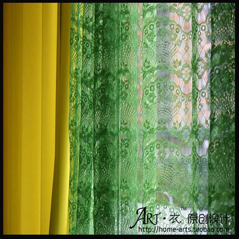 green lace curtains aesthetic lace curtain window screening finished product