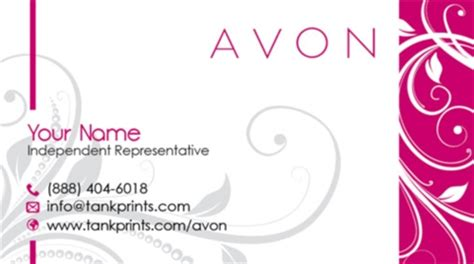 free avon business cards templates avon business card design 11