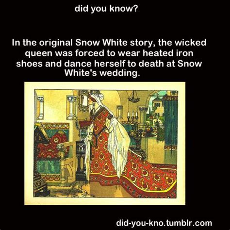 Story Original - in the original snow white story the was