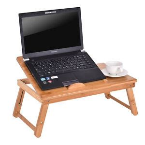bamboo folding laptop computer notebook table bed desk bed tray stand adjustable 6940350866632
