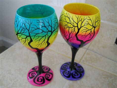 paint with a twist wine glass 1000 ideas about cool wine glasses on wine