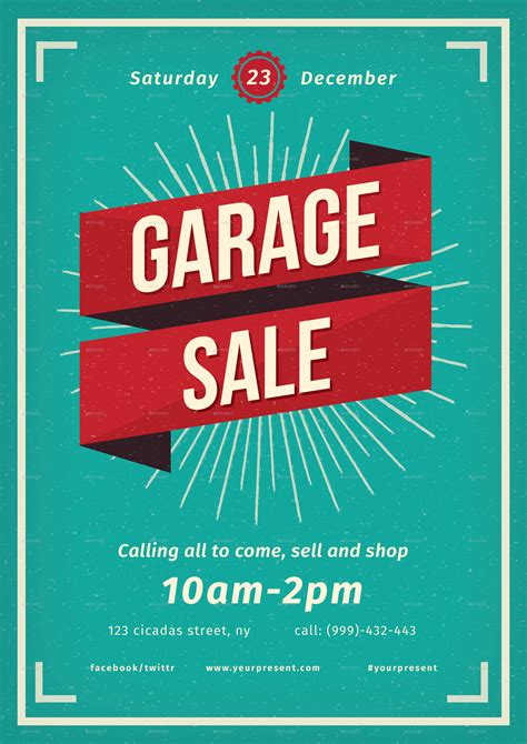 Garage Sale On by Vintage Garage Sale Flyer By Lilynthesweetpea Graphicriver