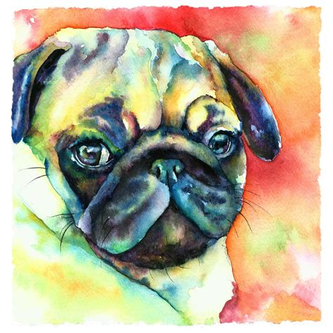 pug painting pug painting by freeman