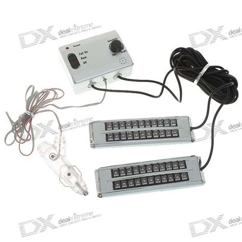 44 led controlled decorative blue light for vehicles