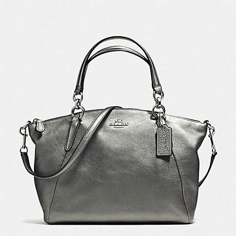 Coach Kelsey Small Gunmetal Original coach f37857 small kelsey satchel in grain leather