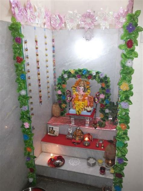 decoration of pooja room at home ganesh chaturthi decoration ideas ganesh pooja decor