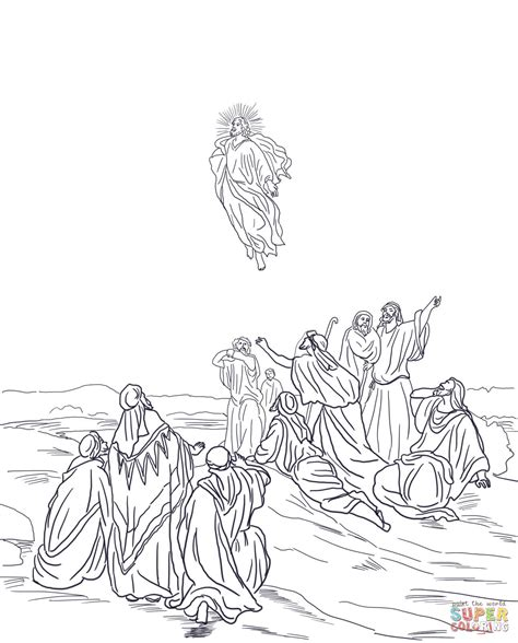 coloring pages ascension of jesus jesus ascension coloring page memes