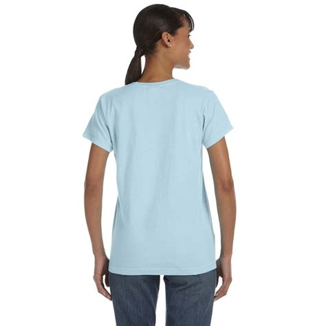 comfort colors chambray comfort colors women s chambray 5 4 oz t shirt
