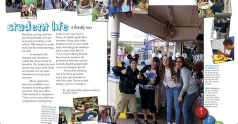 student life section yearbook ideas indian trails middle school yearbook pages 4 5 student