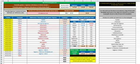 descargar plantilla excel para control ingresos gastos plantilla de ingresos y gastos