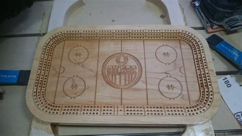 hockey theme cribbage board cribbage board woodworking