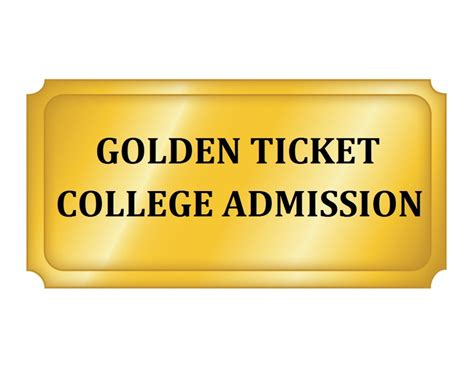 golden ticket template undergraduate admission usc