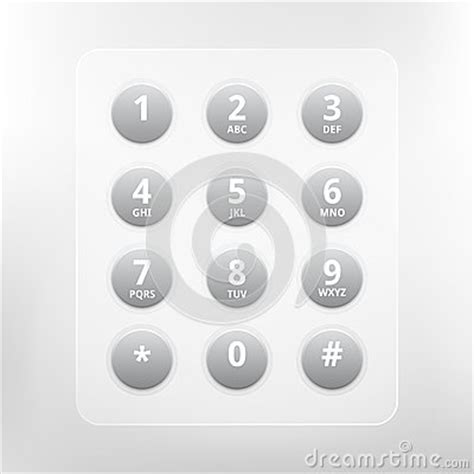 eps number format vector phone numbers with alphabet keyboard stock image