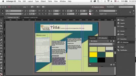 design poster in indesign how to create an academic poster in indesign youtube