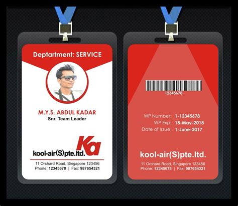 Staff Card Template by Entry 54 By Kavitasavant For Design For Staff Id Card