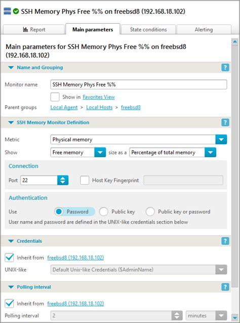 check ram usage check ram usage ssh iphost network monitor