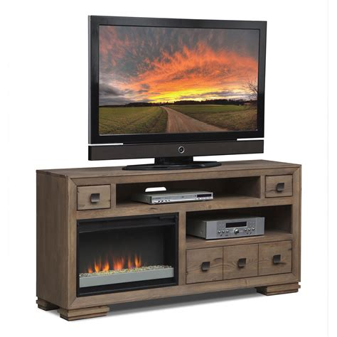mesa 64 quot quot fireplace tv stand with contemporary insert