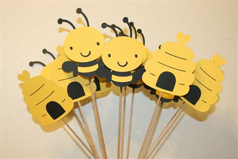 Set Of 12 Bumble Bee Table Decorations Centerpieces Great Bumble Bee Ideas