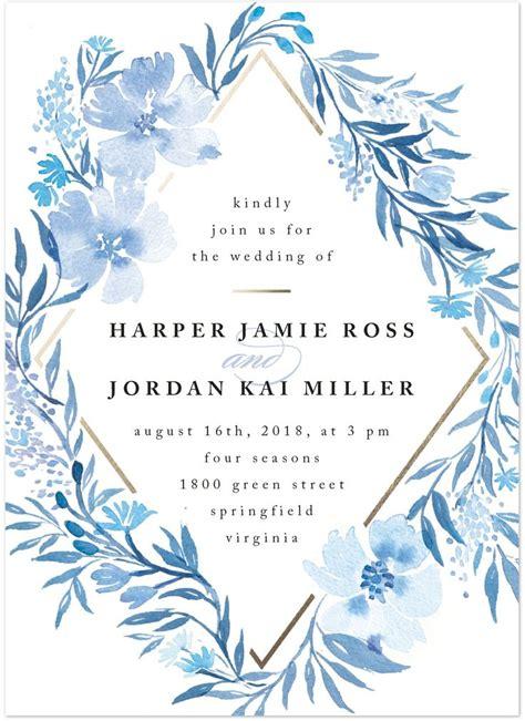 Blue Wedding Invitations by Best 25 Blue Wedding Invitations Ideas On