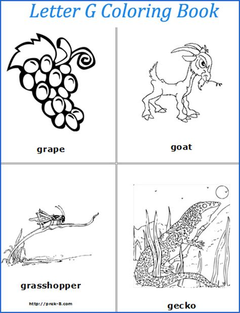 coloring pages that start with the letter g 5 best images of letter g printable book words that