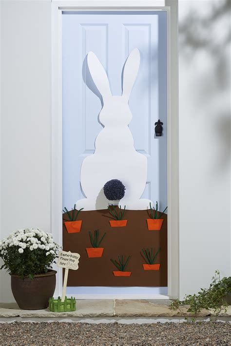 spring decorating ideas for your front door diy easter door decorations hobbycraft blog