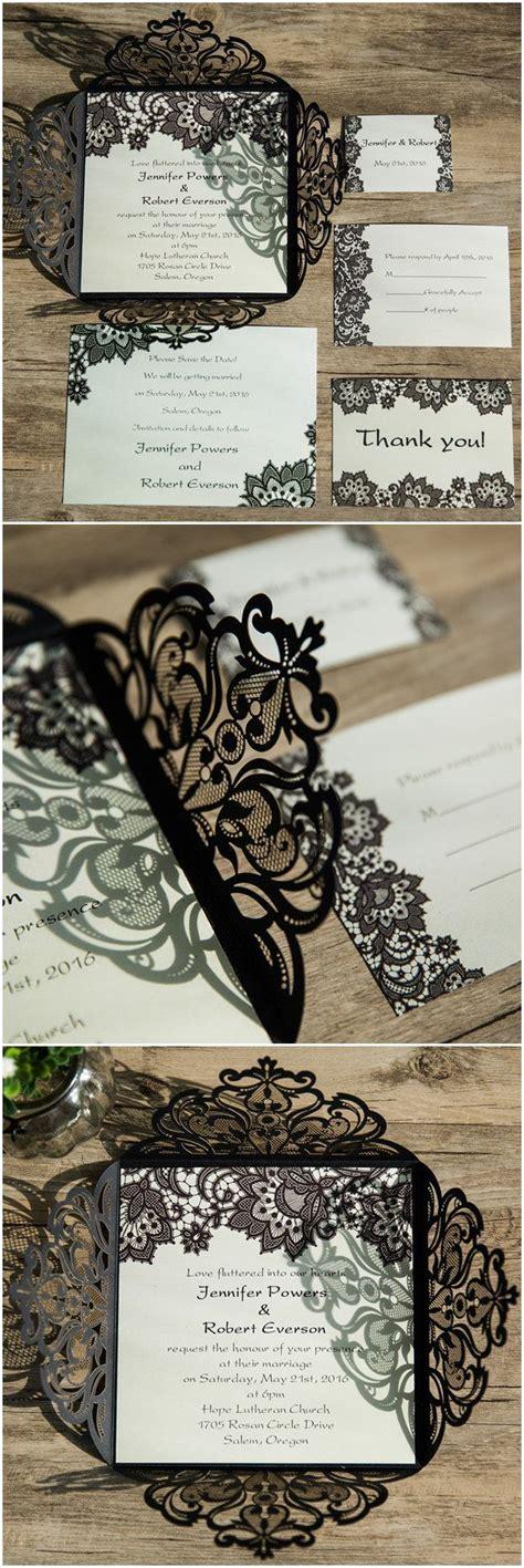 Black Elegance Wrpcc Laser Cut black lace pattern laser cut wedding invitations ewws062 hermosa invitaciones y boda