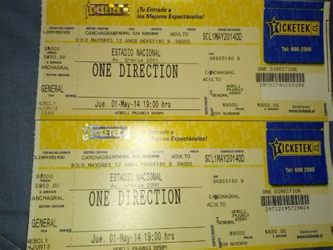 entradas de one direction entradas one direction 60 000 en mercado libre
