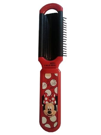 Minnie Mouse Signature Compact Cermin disney folding hairbrush minnie mouse signature