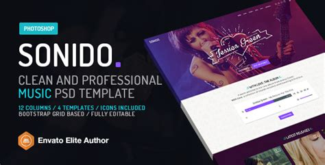 sonido music psd website template for djs and singers by