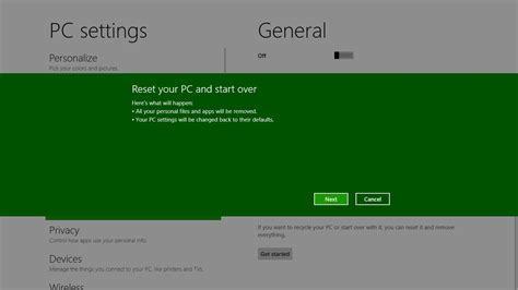 Refresh and reset your PC ? Building Windows 8