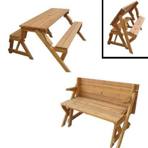 picnic table that turns into a bench dream wood design detail folding garden bench plans free