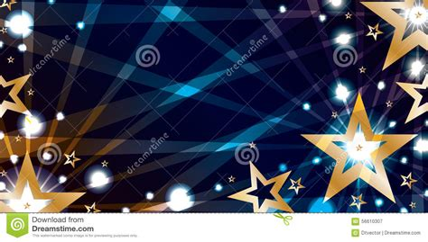 star gold blue night banner stock vector image