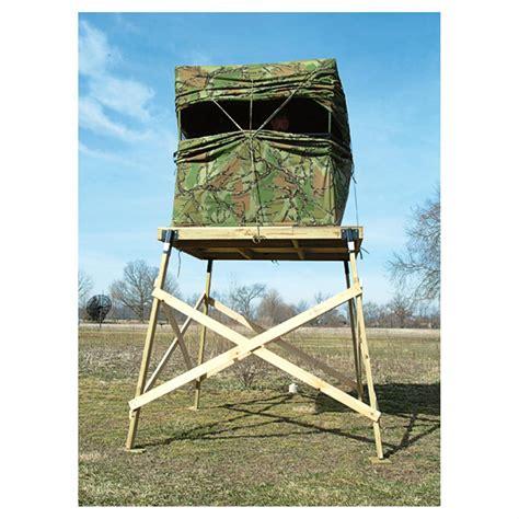dog house pop up blind house pop up blind 4 pk of 2x4 quot angle steel elevators 174 black 294632 tree