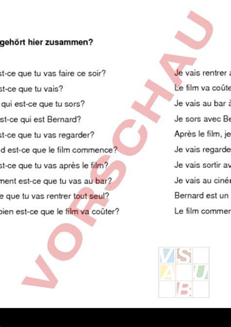 Musterbrief Angebot Französisch Www Unterrichtsmaterial Ch Franz 195 182 Sisch Grammatik Fragew 195 182 Rter Franz 195 182 Sisch Arbeitsbl 195