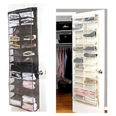 26 Pocket Shoe Rack Storage Organizer Holder Hook Folding Hanging On Door Closet Ebay 94 Wardrobe Door Storage Closet Mirrored Wardrobe Furniture Large Black Glass Bedroom