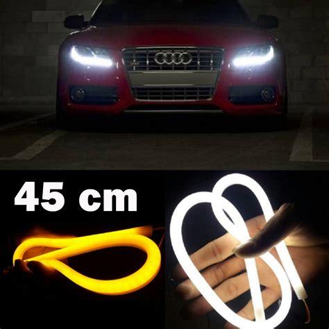 aliexpress buy drl 45cm light daytime running light with turn signal