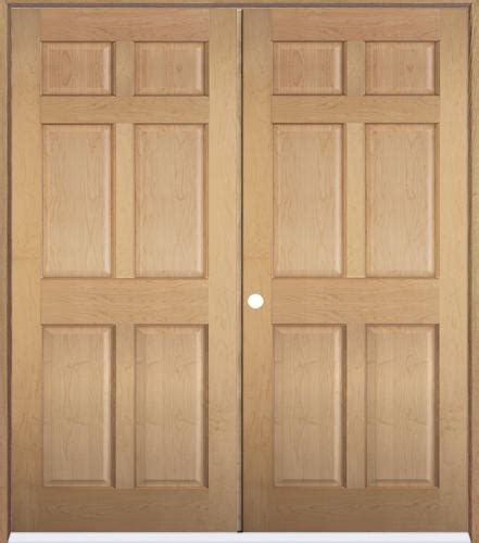 mastercraft maple 6 panel prehung interior door at