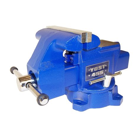 lowes bench vise shop yost 5 5 in cast iron apprentice series utility bench vise at lowes com