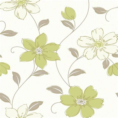 wallpaper green and cream green flower wallpaper wallpapersafari