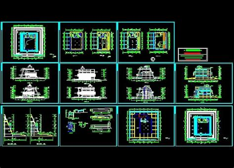 museum floor plan dwg museum of construction plans free download autocad blocks