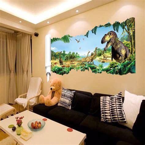chambre dinosaure pas cher 3d dinosaur stickers muraux pour chambre d