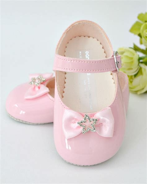 Pink Bridesmaid Shoes by Baby Pink Diamante Christening Bridesmaid Shoes