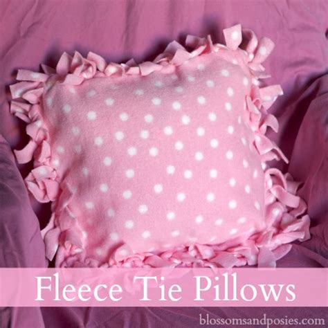 Fleece Tie Pillow by Fleece Tie Pillows Blossomsandposies