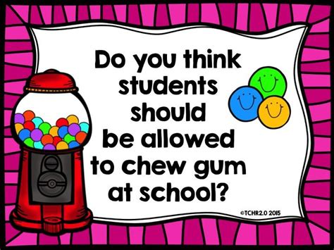 Chewing Gum In School Persuasive Essay by Opinion Writing Prompt Chewing Gum In School You Think Chewing Gum And Schools