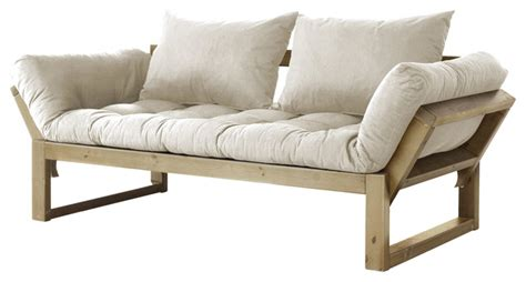 contemporary futon edge convertible futon sofa bed natural frame natural