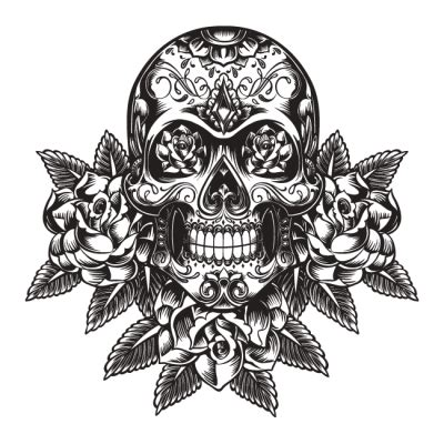tattoo skull png download tribal skull tattoos free png transparent image