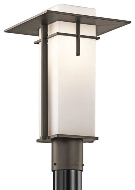 Modern Outdoor Post Lights Kichler Lighting Caterham Modern Contemporary Outdoor Post Lantern Light X Zo6 Contemporary