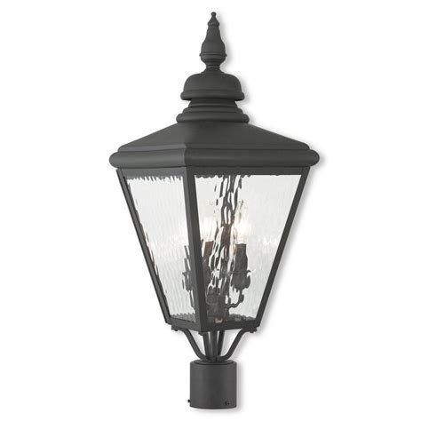 Outdoor Coastal Lighting Newport Coastal Dunbar Outdoor Black Post Light 7982 21b The Home Depot