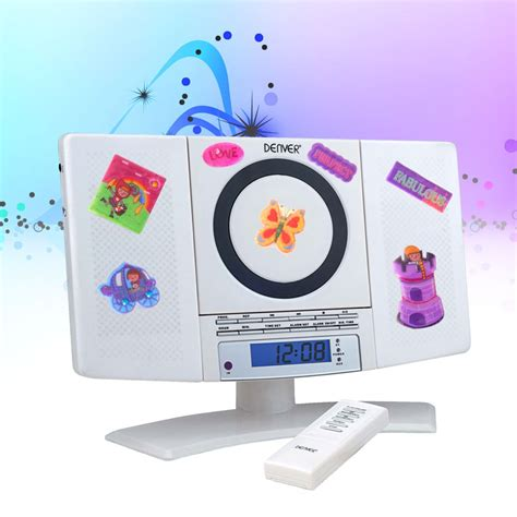 children s room cd player remote control wall mount alarm