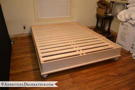 diy wood bed frame diy wooden slat bed frame images